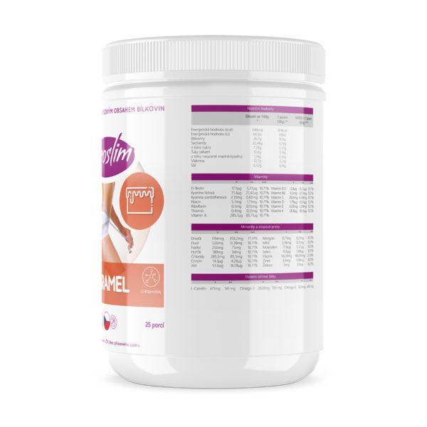 Proteinová kaše - karamel - složení