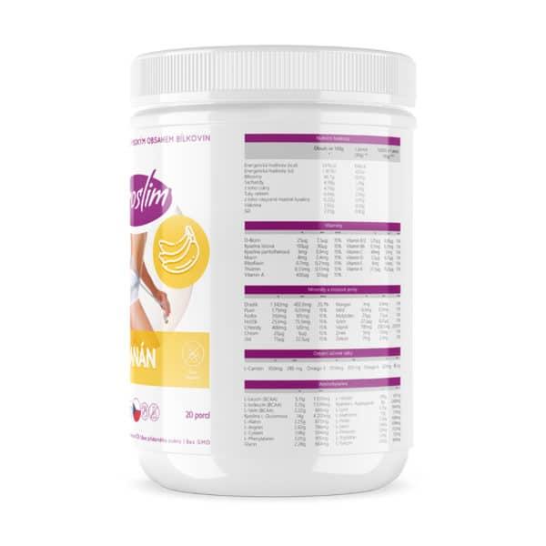 proteinový nápoj - koktejl - s příchutí banánu - strana