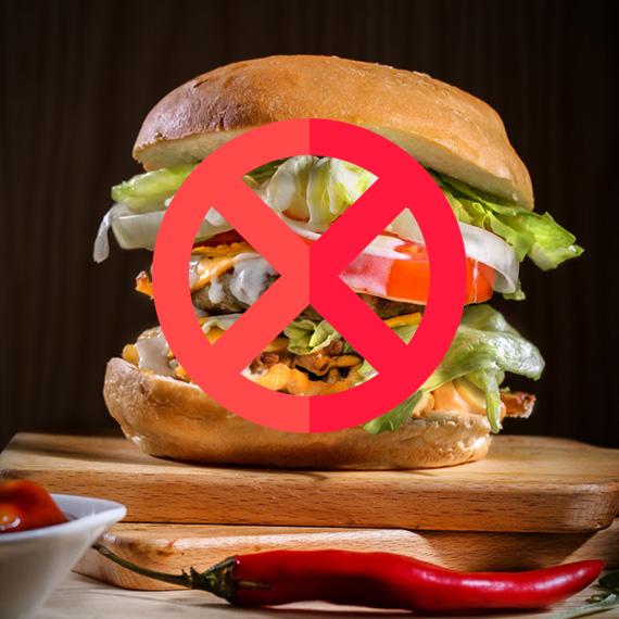 nezdravé jídlo - zakázané potraviny v proteinové dietě