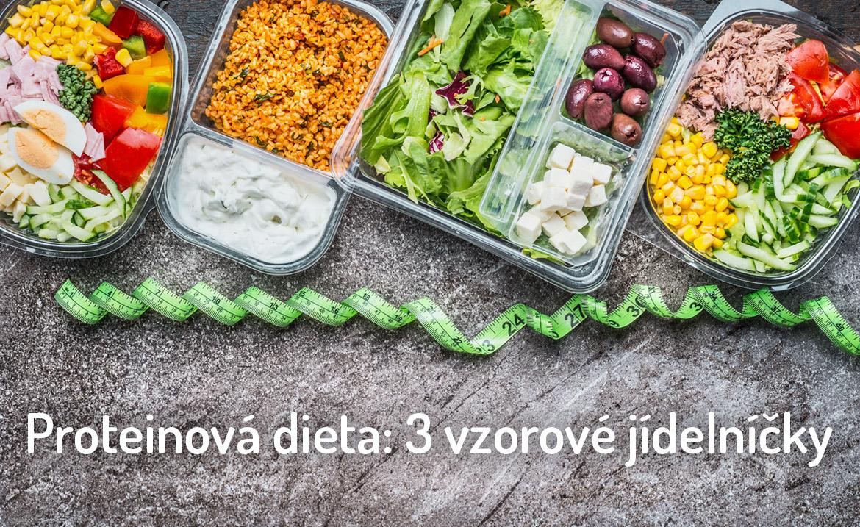 proteinová dieta - vzorový jídelníček