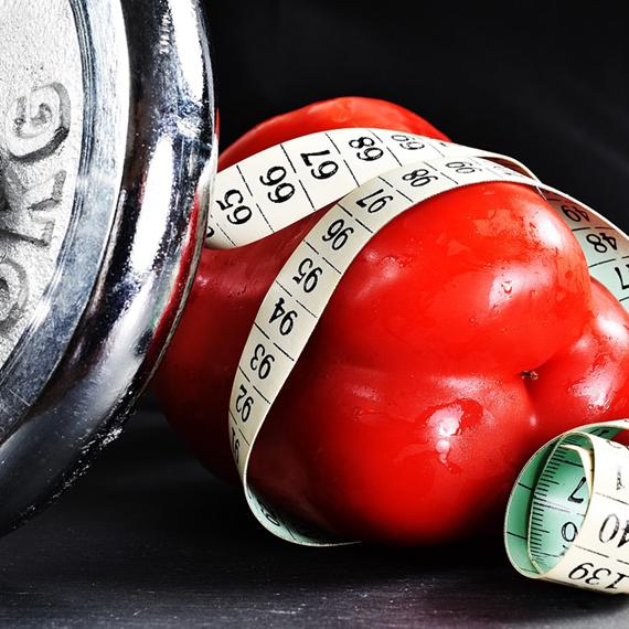 cvičení a jídlo
