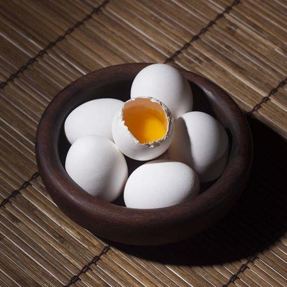 vejce před cvičením